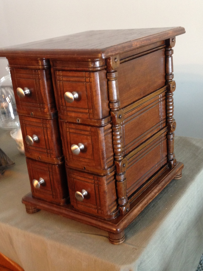 Cabinet side with gorgeous casing detail