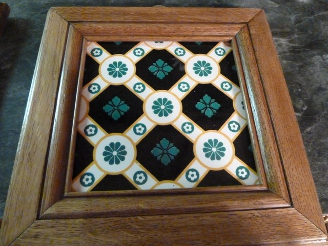Rare antique Minton tile designed by A. Pugin - Wall art $100.00