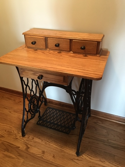light oak lamp table
