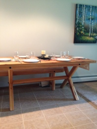 6FT NAUTRUAL CEDAR TABLE AND BENCH